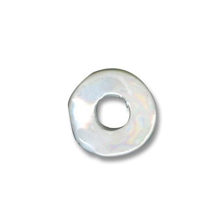 Enamel-Glazed One Color Ceramic Slider Irregular Disc 23mm (Ø 9mm)