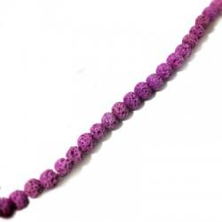 Perle Lave Colorée 6mm / Trou 0,5mm