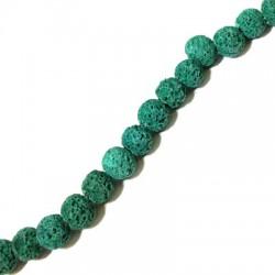 Perle Lave Colorée 8mm / Trou 0,8mm