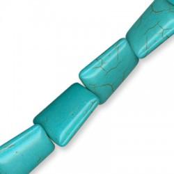 Passante di Howlite Trapezoide 18x25mm (~17pz/filo)