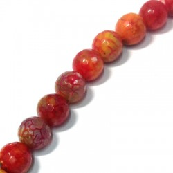 Agate Faceted Ball 14mm