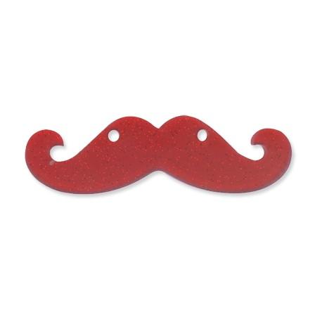Plexiacrylic Glitter Moustache 2.2x8cm