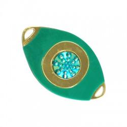 Plexi Acrylic Pendant With Resin Stone 60x35mm