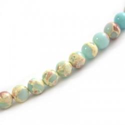 Perle en semi-précieuse Agalmatolite 10mm  (~39pcs/fil)