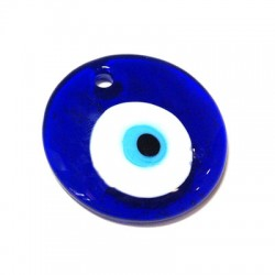 Ciondolo in Vetro Rotondo con Occhio 70mm