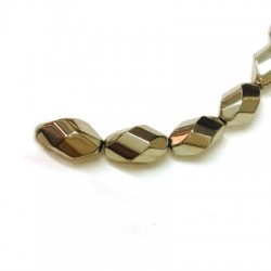 Glass Bead Faceted Irregular Plated 10mm