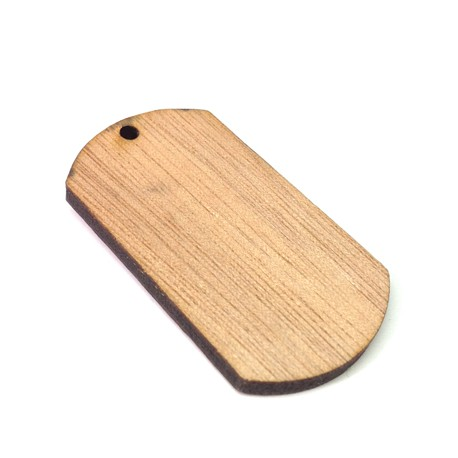 Wooden Pendant Tag 49x27mm