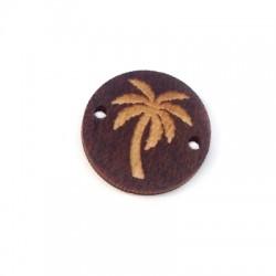 Intercalaire rond avec palmier en Bois 18mm