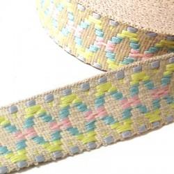 Ribbon Grosgrain Flat Ethnic 25mm