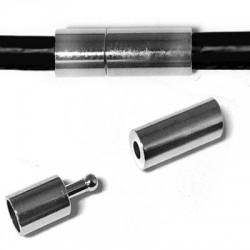Brass Clasp Tube 6x17mm Ø 4mm