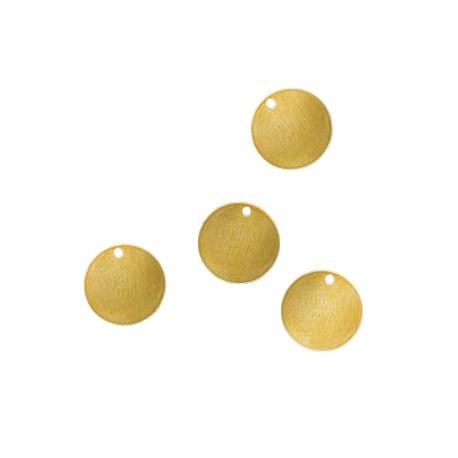 Brass Eco Round Tag 14mm (Ø 1.2mm)