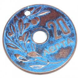 Zamak Pendant Coin 65mm