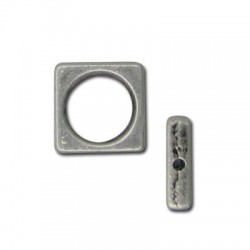 Zamak Slider Ring Square 11mm (Ø 1mm)