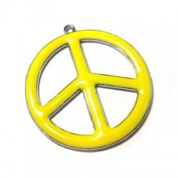 Μεταλλικό Μοτίφ Σήμα της Ειρήνης με Σμάλτο 36mm