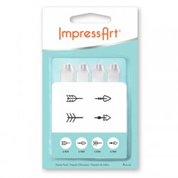 Kit Poinçons Flèches 6mm ImpressArt (4pcs/paquet)