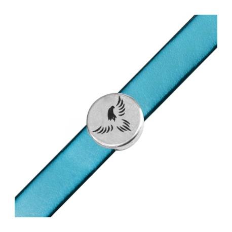Zamak Round Charm Eagle 18mm (Ø 2,5x5,10mm)