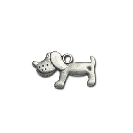 Zamak Charm Dog 23x15mm