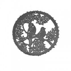 Μεταλλικό Ορειχάλκινο Στοιχείο με Πουλιά Φιλιγκρί 53mm