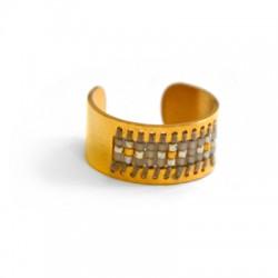 Brass Ring w/ Miyuki Beads