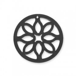 Πλέξι Ακρυλικό Μοτίφ Στρογγυλό Λουλούδι 55mm