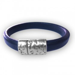 Zamak Magnetic Clasp Hammered for Regaliz Leather 14.5x23.5x10.5mm (Ø 10x7mm)