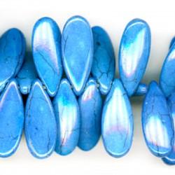 Ημιπολύτιμη Πέτρα Χαολίτης Στοιχείο Δάκρυ Περαστό 10x24mm (~90τμχ/κορδόνι)