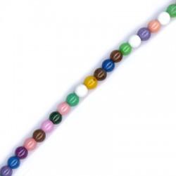 Passant Perle en sémi précieux Mountain Jade 4mm (~100pcs/fil)
