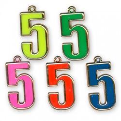 Ακρυλικό Επιμεταλλωμένο Μοτίφ με Σμάλτο Αριθμός ''5''
