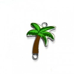 Zamak Enamel Connector Palm Tree 18x21mm