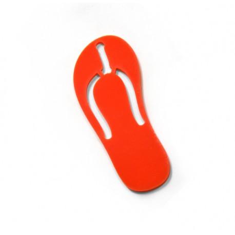Plexi Acrylic Pendant Flip Flop 69x29mm