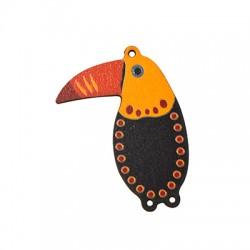 Ciondolo di Legno Tucano dipinto 42x55mm
