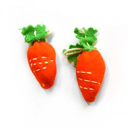 Fabric Carrot 17x51mm