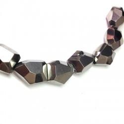 Glass Bead Irregular Plated 20x26mm (~15pcs)