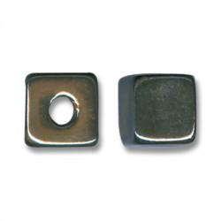 Κεραμική Χάντρα Κύβος με Σμάλτο 13mm