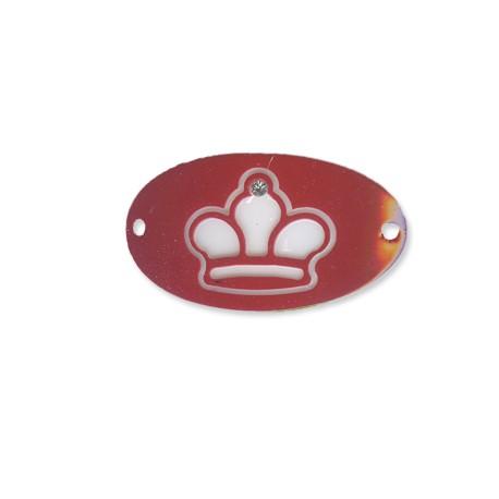 Plexiacrylic Oval Crown 43x24/2.5mm