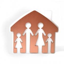 Ξύλινο με Πλέξι Ακρυλικό Επιτραπέζιο Σπίτι 130x120mm