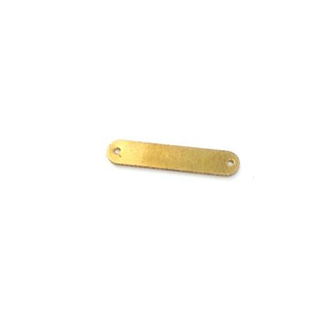 Brass Casting Tag 25x5mm (Ø1.2mm)