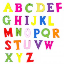 Wooden english letters 26pcs