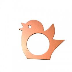 Wooden Napkin Holder w/ Bird 80x94mm