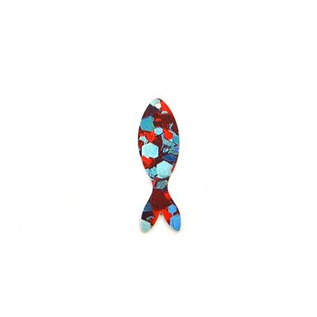 Πλέξι Ακρυλικό Μοτίφ Ψάρι 12x40mm