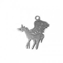 Silver 925 Horse 29x27mm