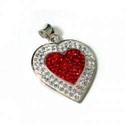 Ασήμι 925 Μοτίφ Καρδιά με Swarovski 23mm