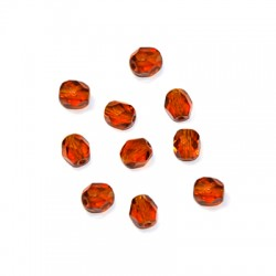 Crystal Bohemian Bead Round Faceted 6mm