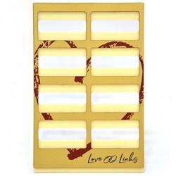 """Ξύλινο με Πλέξι Ακρυλικό Σταντ """"Love Links"""" 195x297mm"""