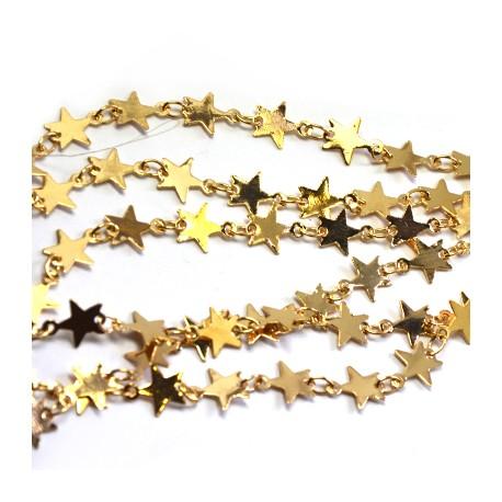 Brass Chain w/ Stars 6.7x8.4mm/0.25mm
