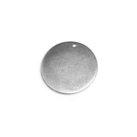 Médaille ronde en Métal/Laiton 20mm (Ø1,2mm)