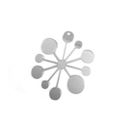 Πλέξι Ακρυλικό Μοτίφ Χιονονιφάδα 56x48mm