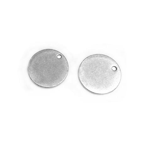 Médaille ronde en Métal/Laiton 15mm (Ø1,2mm)