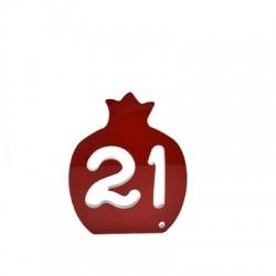 """Πλέξι Ακρυλικό Επιτραπέζιο Γούρι Ρόδι """"21"""" 58x70mm"""