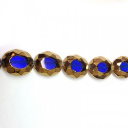 Glass Bead Oval Faceted Plated 20x24mm (~15pcs)